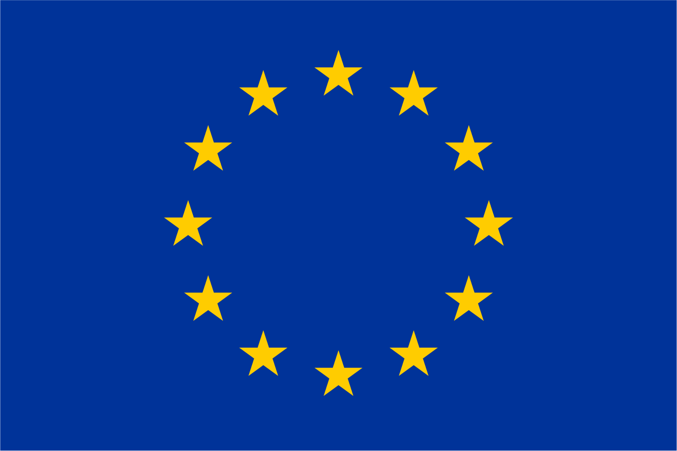 EU Flag - Blue background with yellow stars